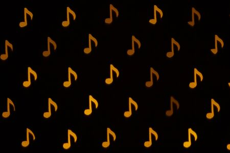 Musical notes. Blinking abstract background