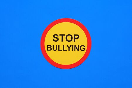Social bullying and aggressive hurtful language. Bullying concept Stock Photo