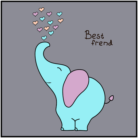 cute elephant: Cute cartoon elephant