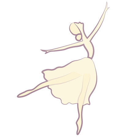 Vector illustrations of ballet icon isolated on white background.
