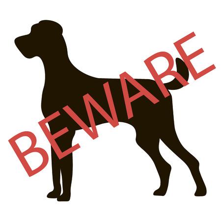 beware: Beware Dogs Signs. Vector Illustration Illustration