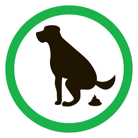 pooping: Dog pooping sign silhouette. Ecological cleanliness of the environment, taking care of pets.