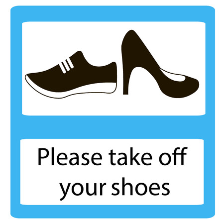 no heels: Please take off shoes signs. No shoes sign warning. Prohibited public information icon. Not allowed cap and shoe symbol.