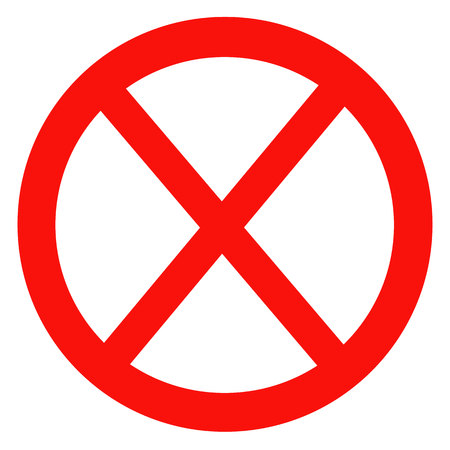 unauthorized: Sign ban, prohibition, No Sign, No symbol, Not Allowed isolated on white background. Vector illustration