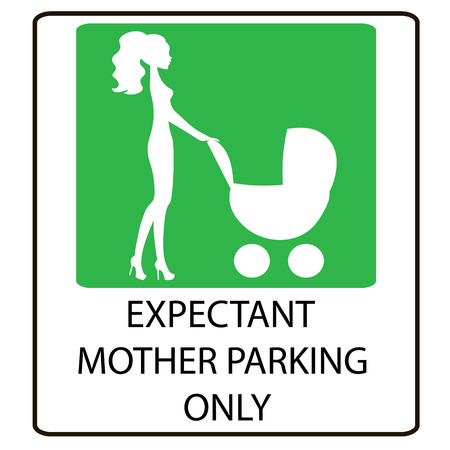 expectant: parking sign for women with children, EXPECTANT MOTHER PARKING ONLY