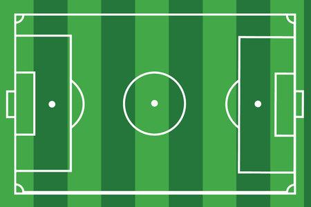 soccer field: textured grass football soccer field. Vector illustration. Illustration