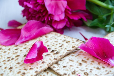 matzah: Matzo or matzah bread traditionally eaten by Jews during the week-long Passover holiday