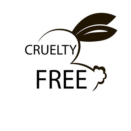 cruelty: Animal cruelty free icon design. Animal cruelty free symbol design. Product not tested on animals sign with bunny rabbit.