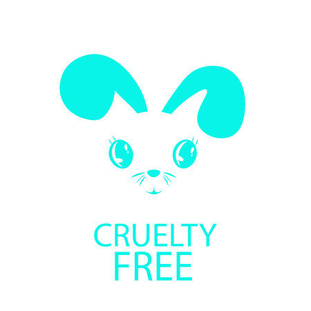 Animal cruelty free icon design. Animal cruelty free symbol design. Product not tested on animals sign with pink bunny rabbit. Illustration