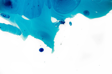 Blue Festive Christmas elegant Abstract artistic forming by blots. Futuristic style card. concept Elegant for business presentations. Chaos aesthetics. Moving colorful paint splash. place text