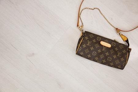 vuitton: Moscow, Russia - 08.14.2016 fake handbag Louis Vuitton