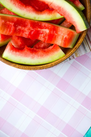 chafe: the concept of raw food diet, eat too much watermelon, and poisoned with pesticides than dangerous watermelon benefits watermelon, place for text