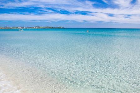 White sandy beach La Cinta Sardinia, Italy