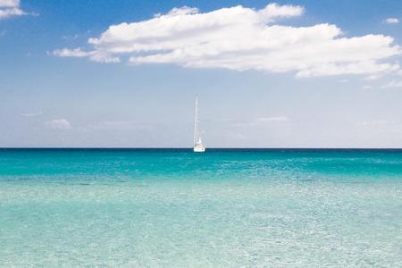 cinta: White sandy beach La Cinta Sardinia, Italy