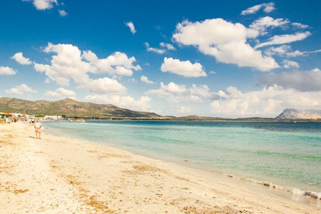 Beautiful beach La Cinta near San Teodoro, Sardinia, Italy Stock Photo