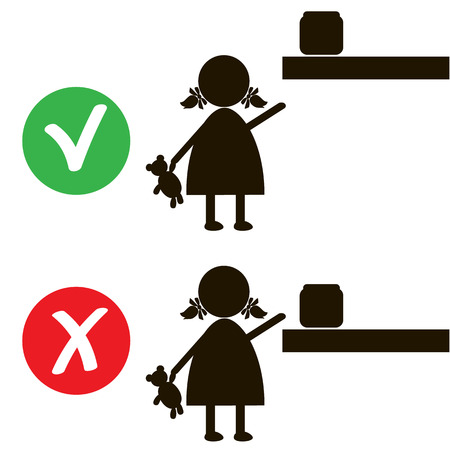 ban sign: Stop or ban sign with child icon isolated on white background. Children are prohibited illustration. Kid is not allowed image. Babies are banned.