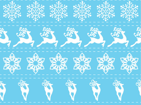 Ethnic nordic christmas seamless pattern background with deer.