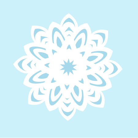 lightweight ornaments: Snowflake Icon graphic. vector illustration, blue on white