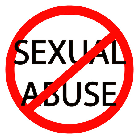 성적 학대를 그만 벡터 빨간 정지 신호