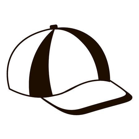 peak hat: Baseball cap icon. flat vector illustration isolate on a white background.