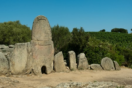 megaliths: tomb of the giants: Li Lolghi, collective tomb of age nuragica. municipality of Arzachena, Sardinia, Italy