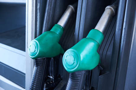 Guns for filling the petrol at fuel filling stations.