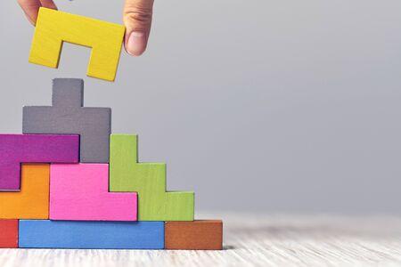 staircase wooden cubes. Business development concept. Concept of progress.