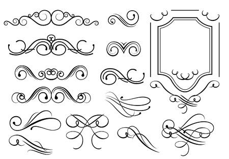 filigree: De ontwerpelementen  Stock Illustratie