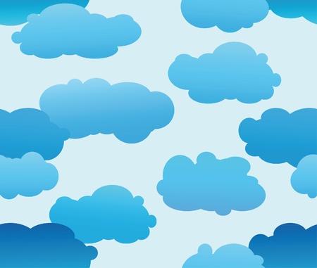 The cloud seamless Stock Vector - 10436374