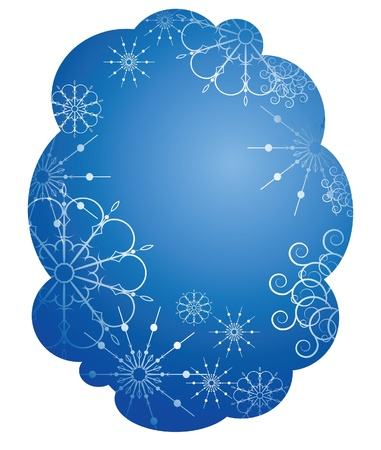 The background with snowflakes Stock Vector - 10436436