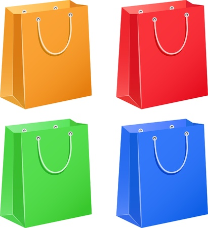 The four color paper bags Vector