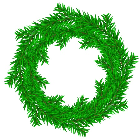 fir twig: Christmas wreath