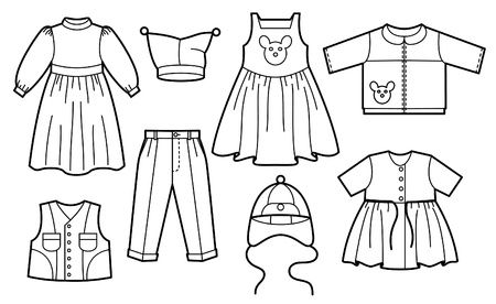 sundress: Silhouette of children clothes