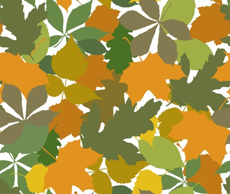 The color leafs seamless Stock Vector - 10436481