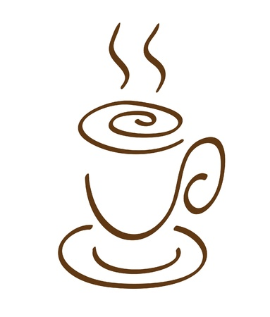The drawing of a coffee cup