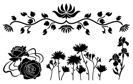The flower decorative elements Stock Vector - 10436351