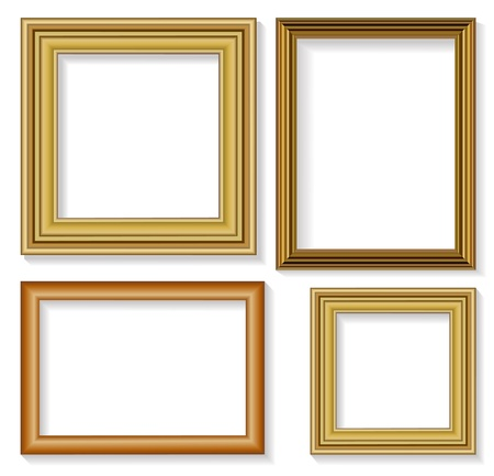gold frame: The four frames for picture