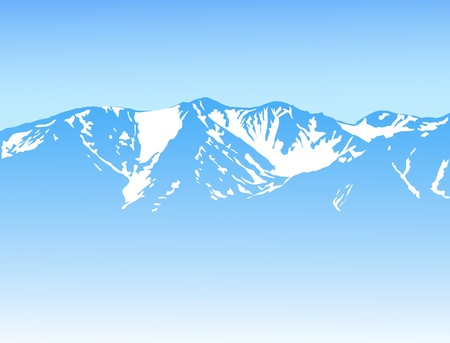 Mountain background Stock Vector - 10436352