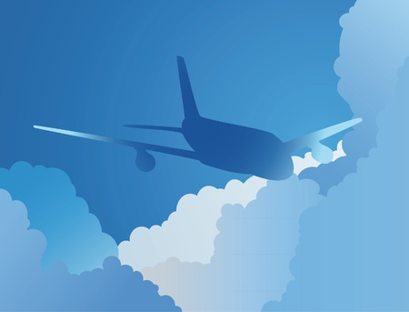 The background from plane in a sky Stock Vector - 10436332