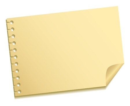 yellow notebook: The sheet of a note
