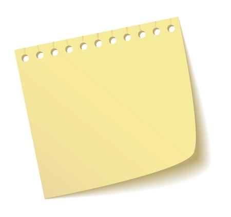 La feuille d'un cahier