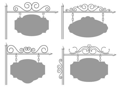 letreros: El conjunto de un marco de cuatro Vectores