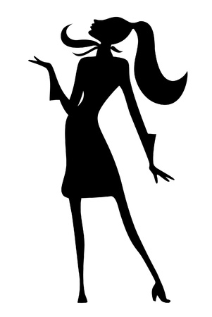 The silhouette of a women Vector