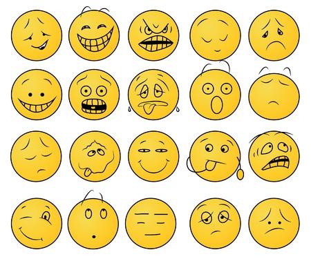 face expression: Smiles set.