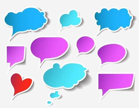 thought bubbles: Colorful speech bubbles and dialog balloons