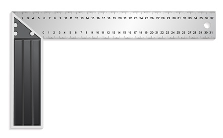 t square: The metal measuring tool Illustration