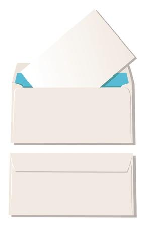 envelope with letter: La busta con la lettera e busta chiudere Vettoriali