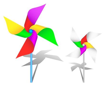 windmolen: De kleurrijke pinwheel speelgoed Stock Illustratie