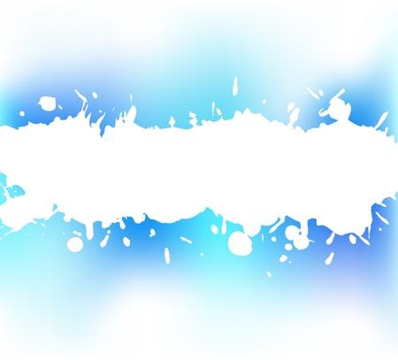spatters: Il schizzi di inchiostro sullo sfondo blu