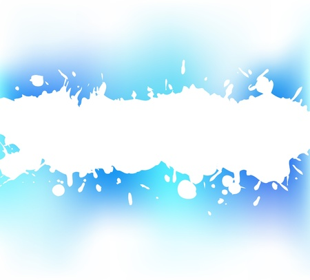 The ink splash on the blue background Vector